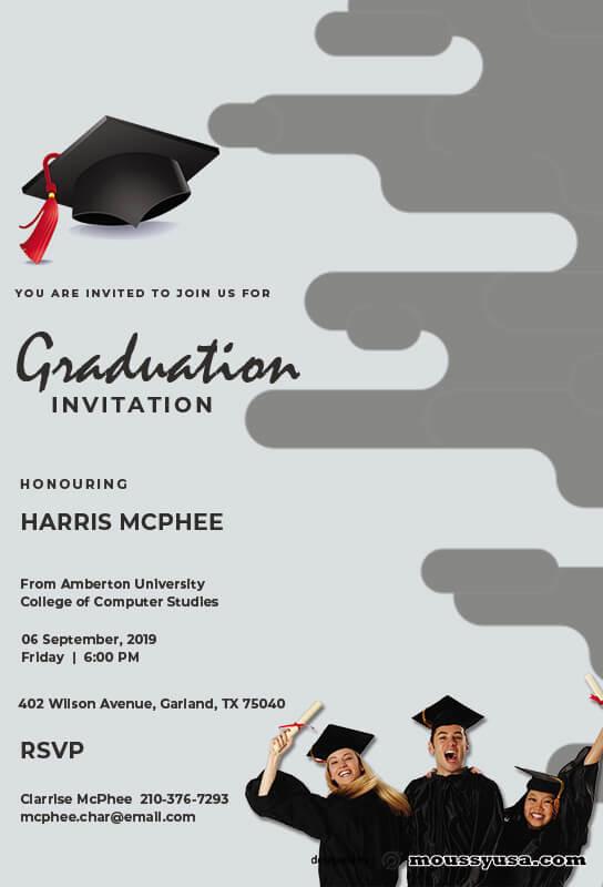 Graduation Invitation free download psd