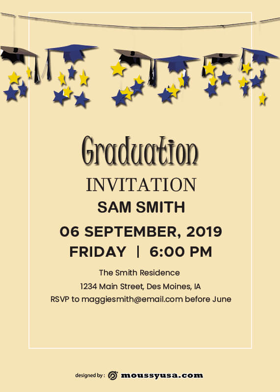 Graduation Invitation in photoshop free download
