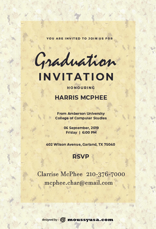 Graduation Invitation in photoshop