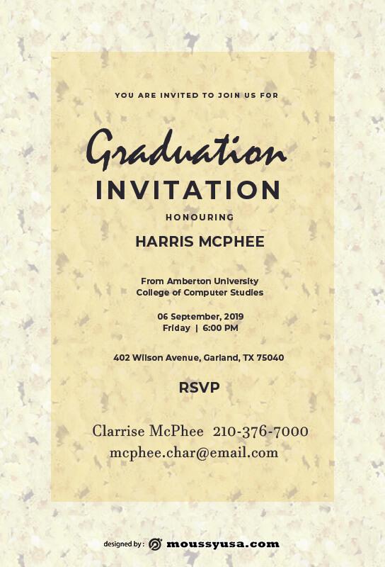 Graduation Invitation in photoshop