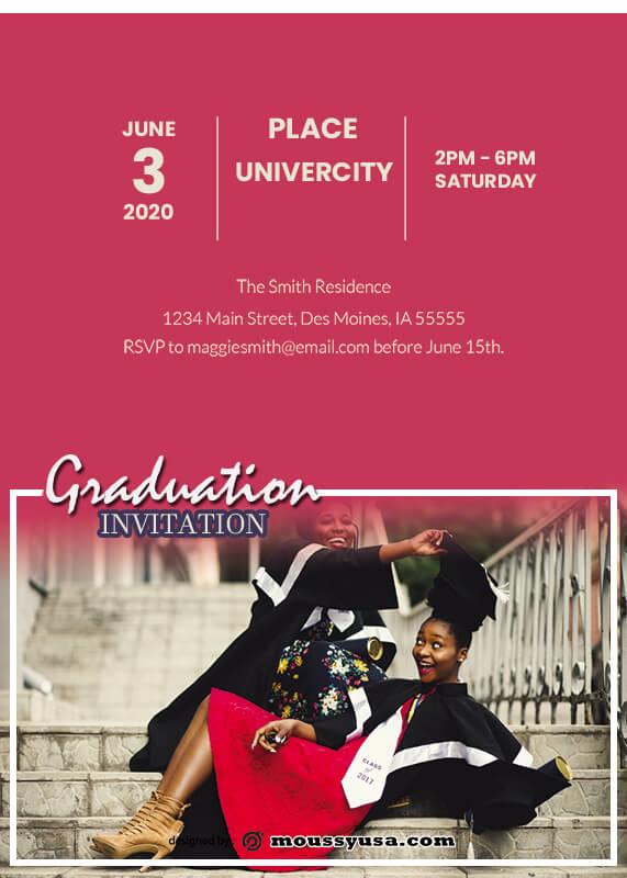 Graduation Invitation psd template free