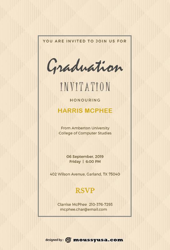 Graduation Invitation template free psd