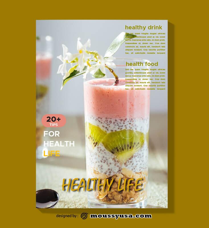 Health Magazine templates Sample