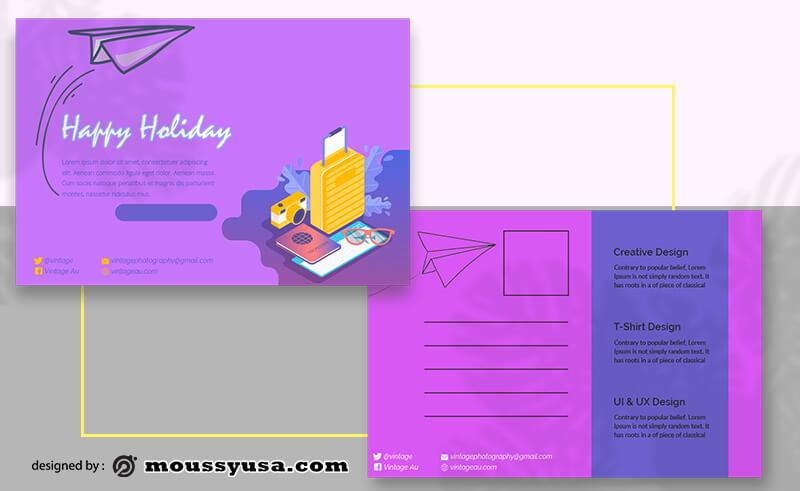 Holiday Postcard templatess Design