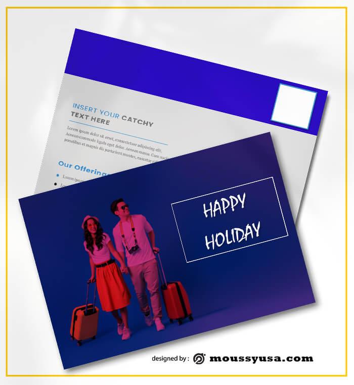 Holiday Postcard templatess Ideas