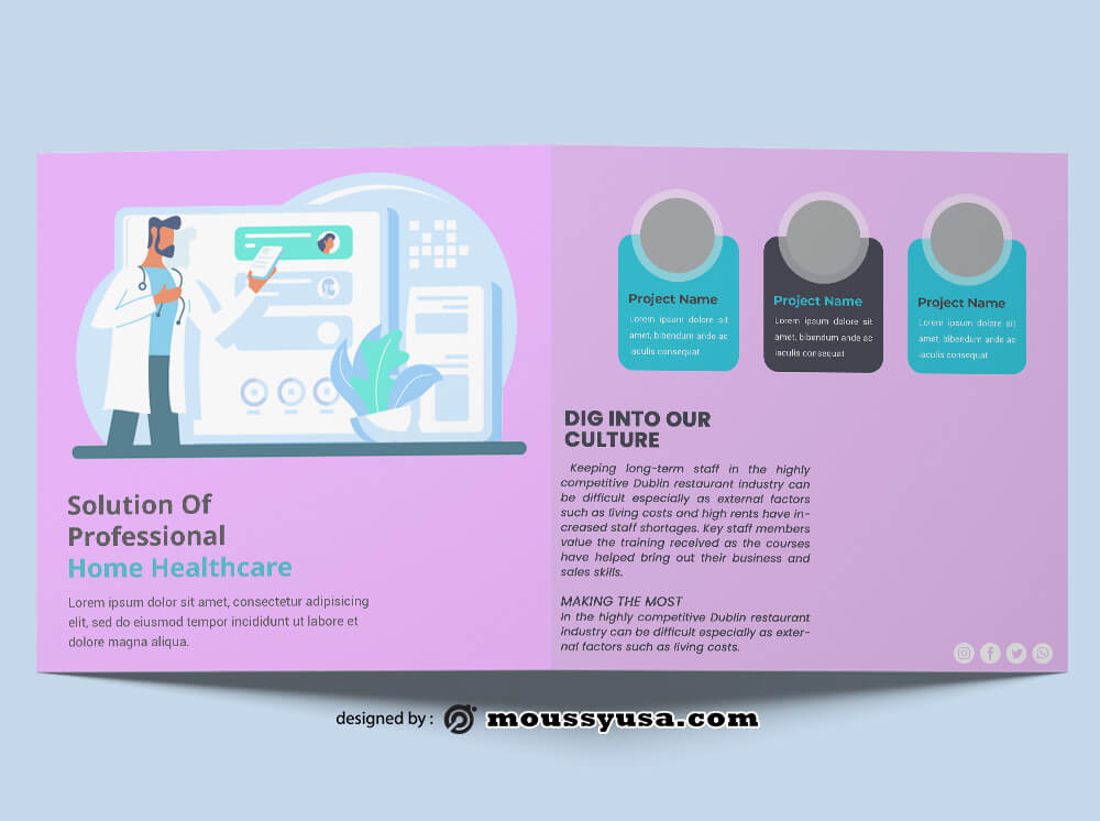 Home Healthcare Brochure templates Design