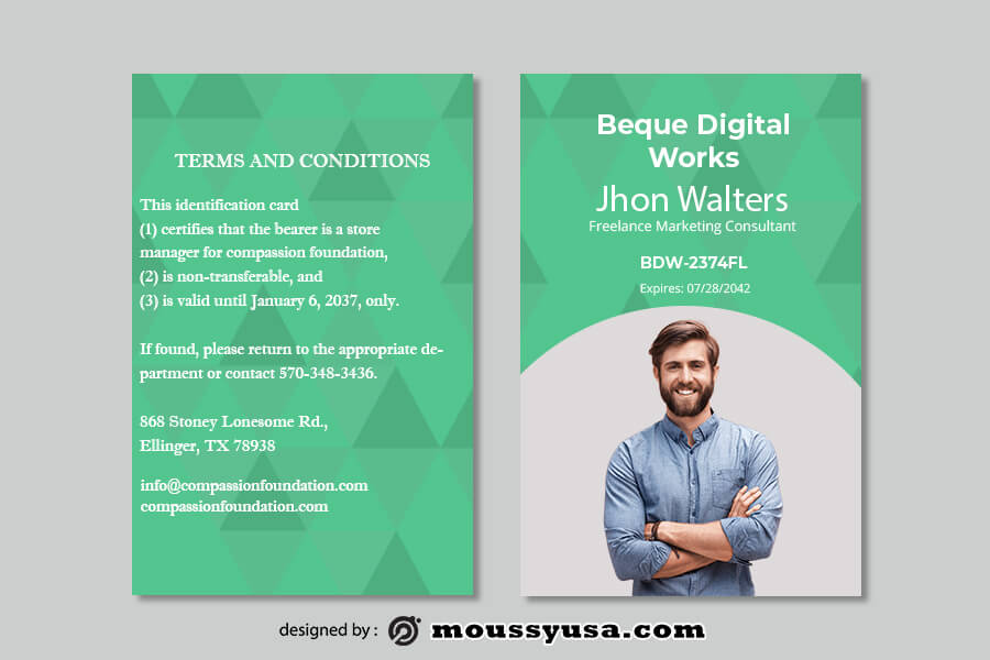 ID Card in photoshop free download