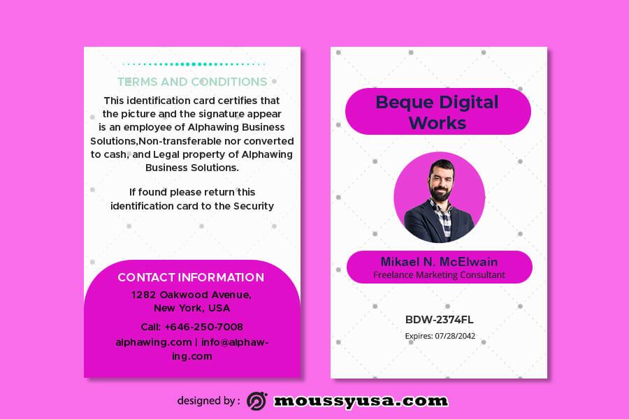 ID Card in psd design