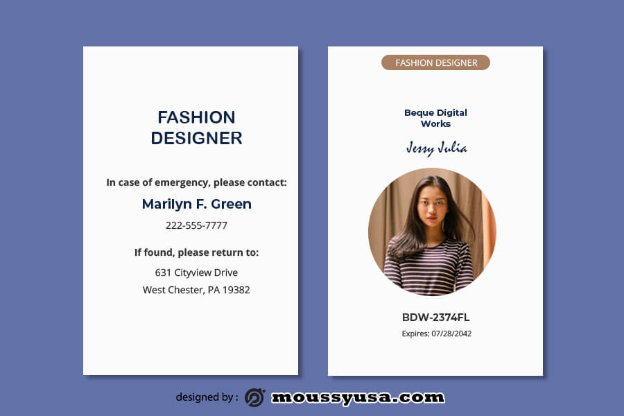 ID Card template for photoshop