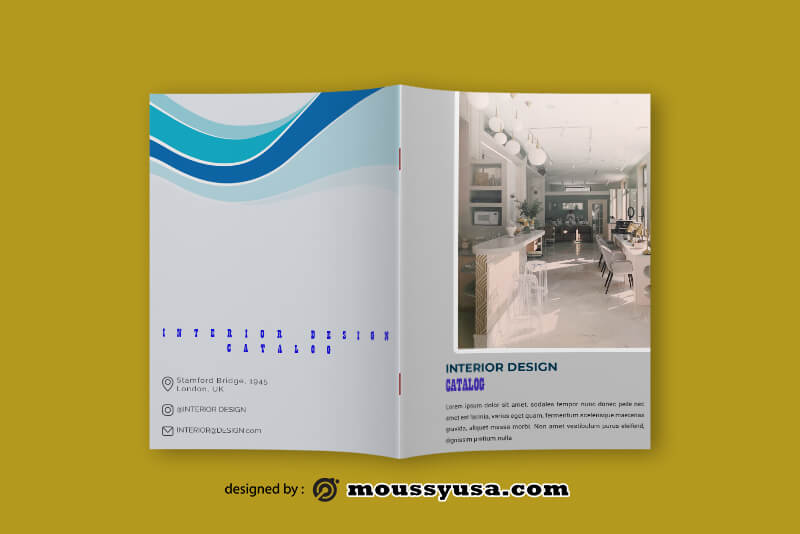Interior Design Catalog templates Sample