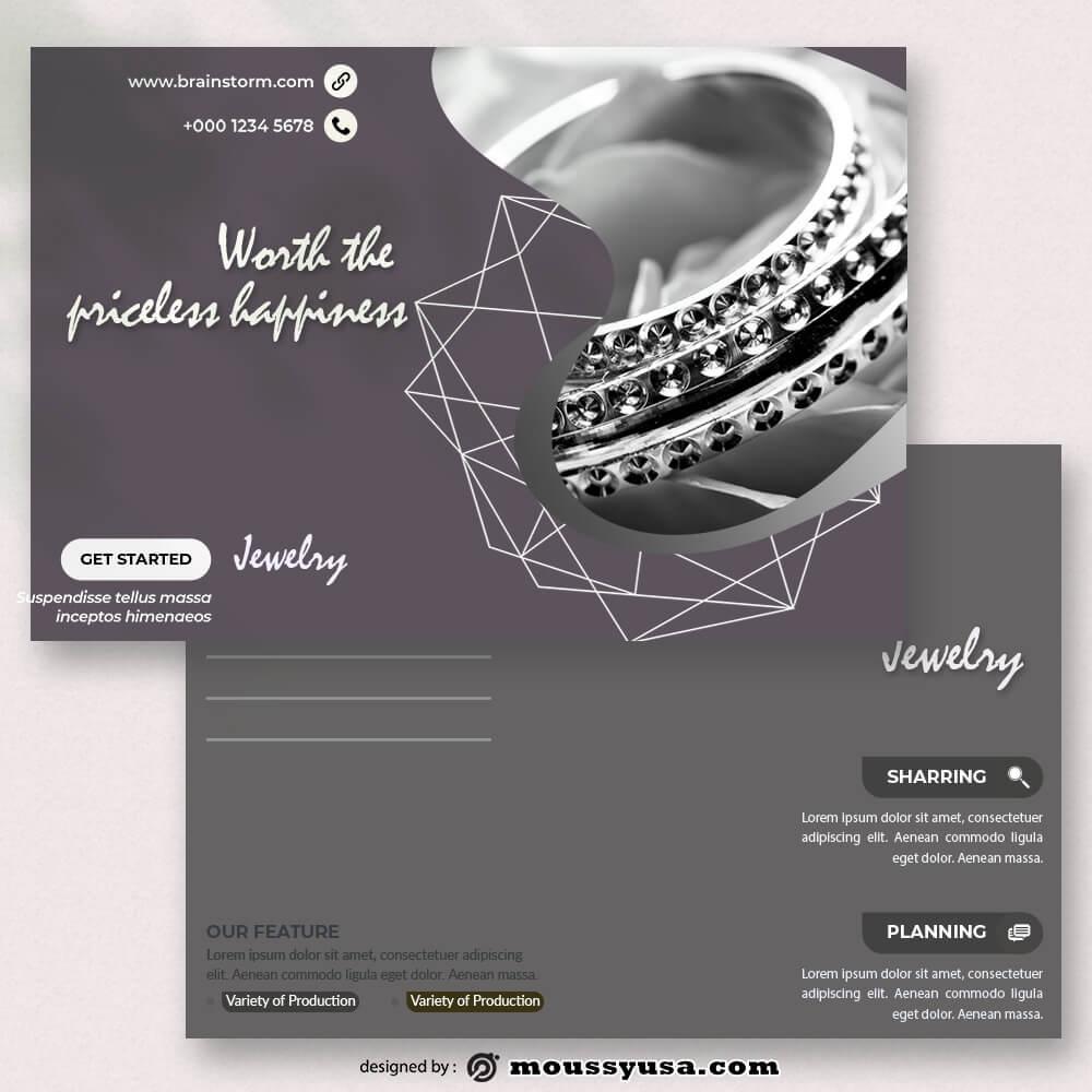 Jewelry Postcard templates Sample