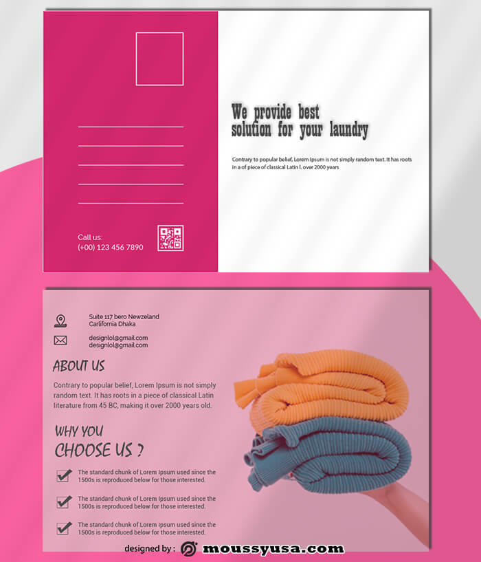 Laundry Postcard Design Ideas