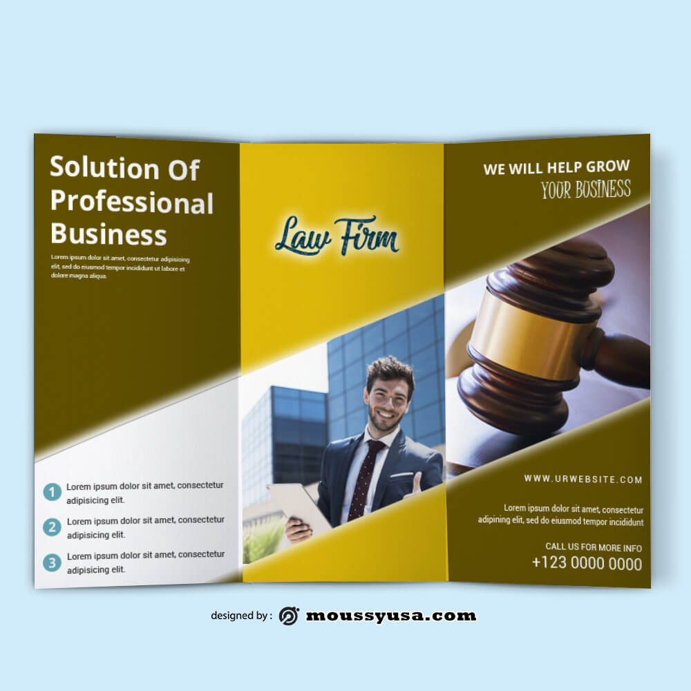 Law Firm Brochure templatess Design