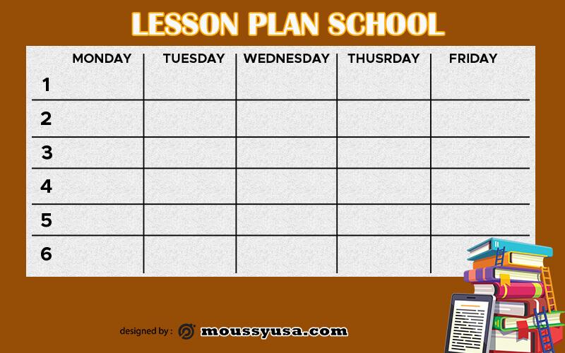 Lesson Plan example psd design