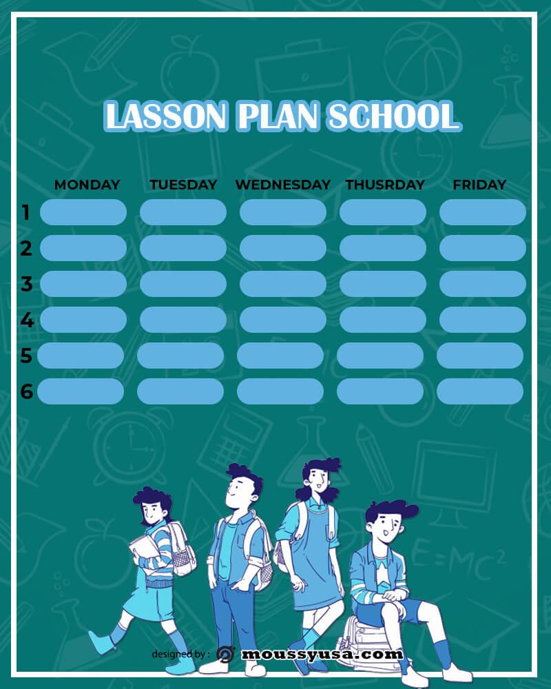Lesson Plan free download psd