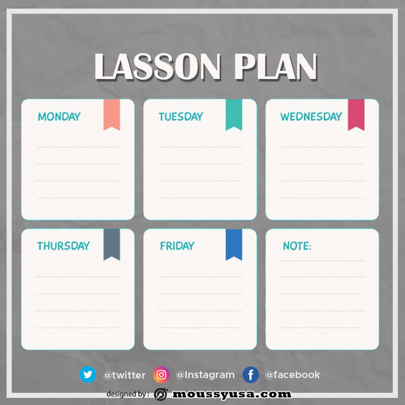 Lesson Plan free psd template