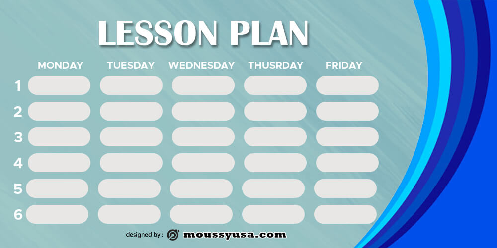 Lesson Plan psd template free
