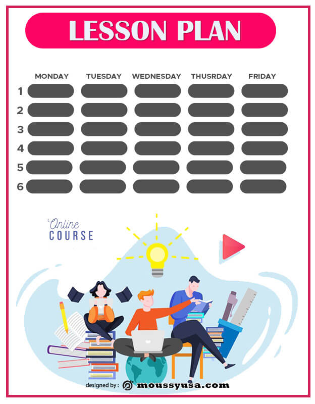 Lesson Plan template free psd
