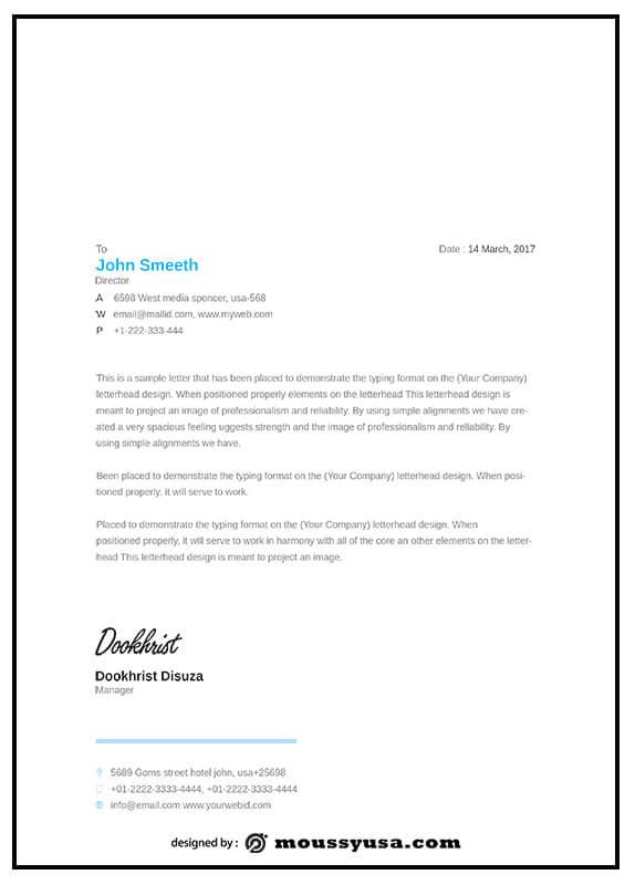 Letterhead free psd template