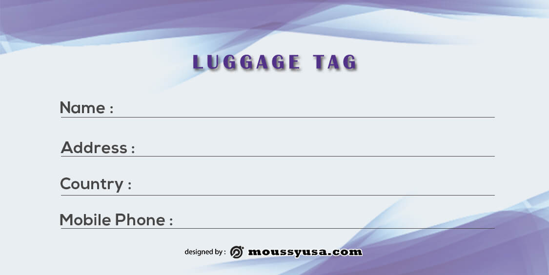 Luggage tag free download psd
