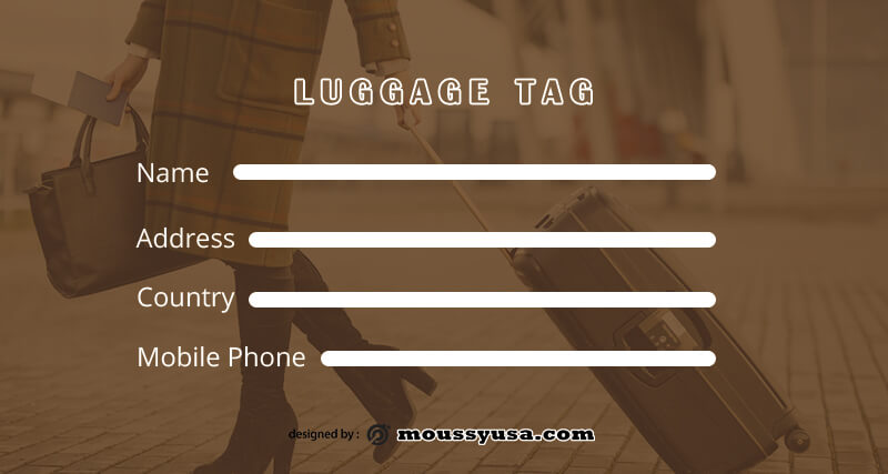Luggage tag in photoshop free download