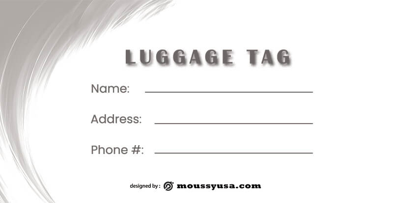 Luggage tag in psd design