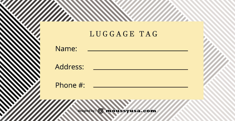 Luggage tag psd template free