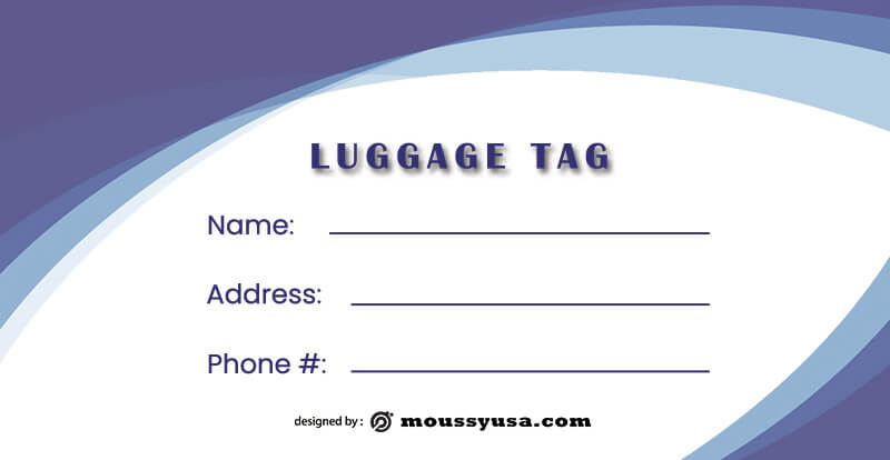 Luggage tag template for photoshop