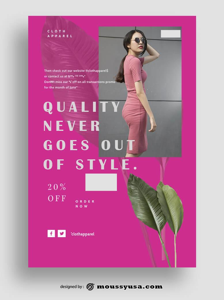 Magazine Cover example psd design