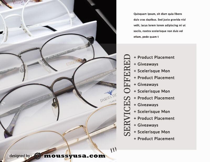 Media Kit customizable psd design template