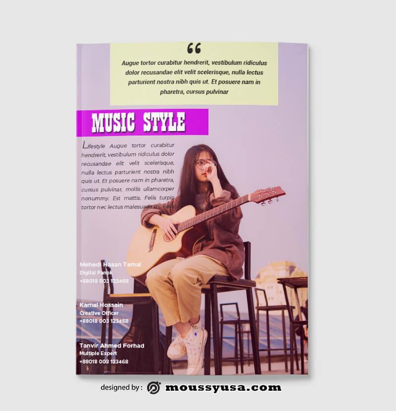 Music Magazine templates Design