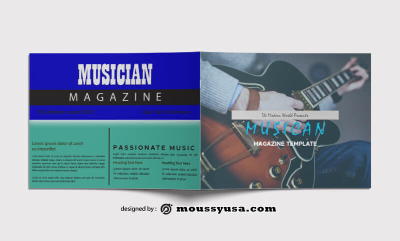 Music Magazine templates Ideas