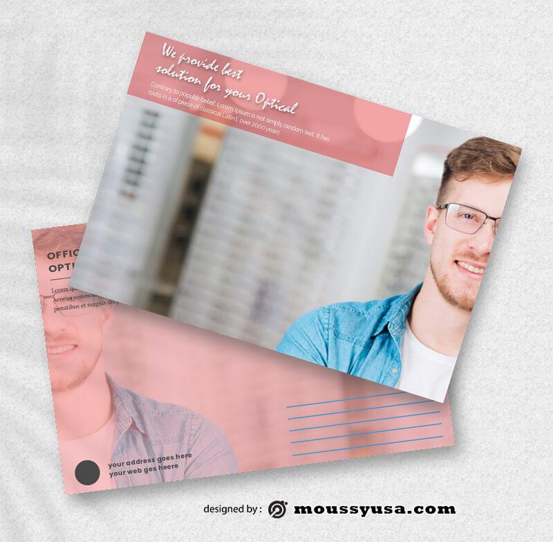 Optical Store Postcard templatess Ideas