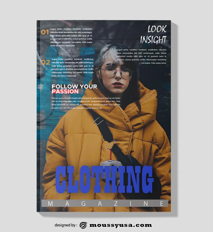 PSD Clothing Magazine templates