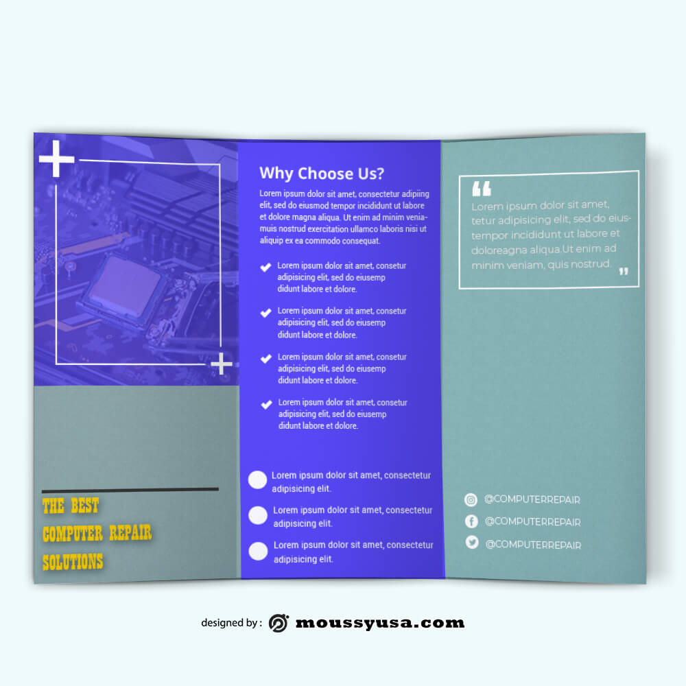 PSD Computer Repair Brochure templates