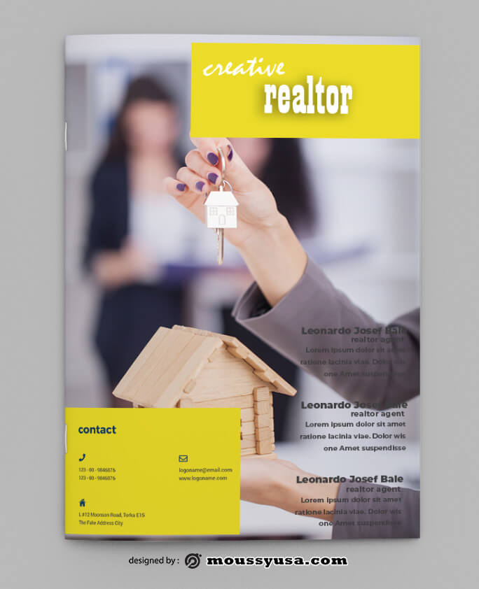PSD Realtor Magazine templates