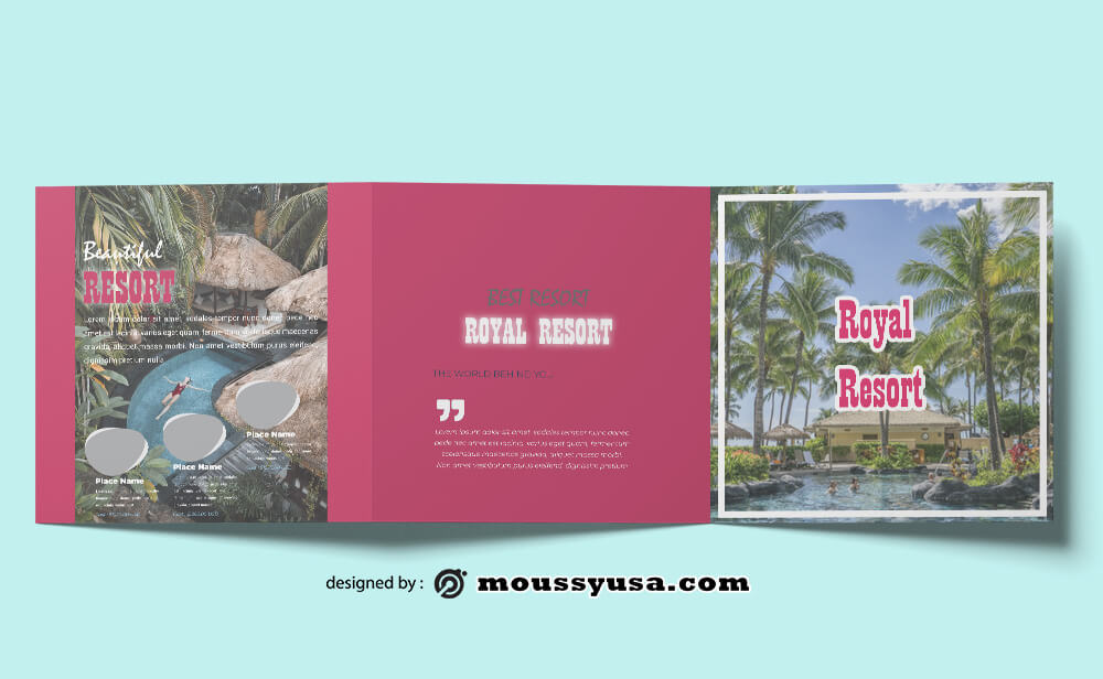 PSD Resort Brochure templates