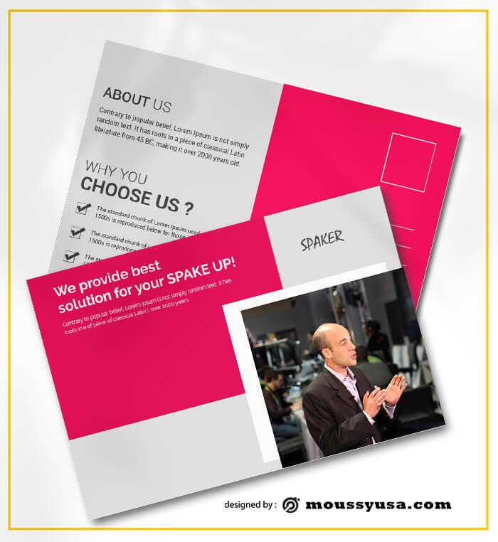 PSD Spaker Postcard templates