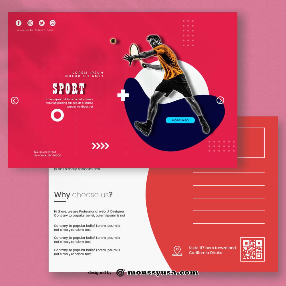 PSD Sport Postcard templates