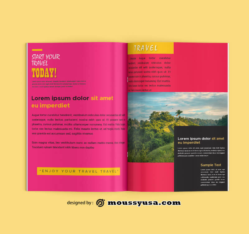 PSD Travel Magazine templates