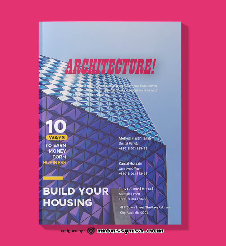 PSD templates For Architecture Magazine