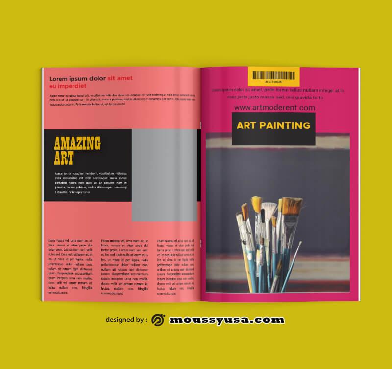 PSD templates For Art Magazine
