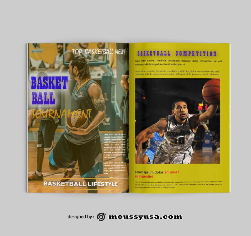 PSD templates For Basketball Magazine