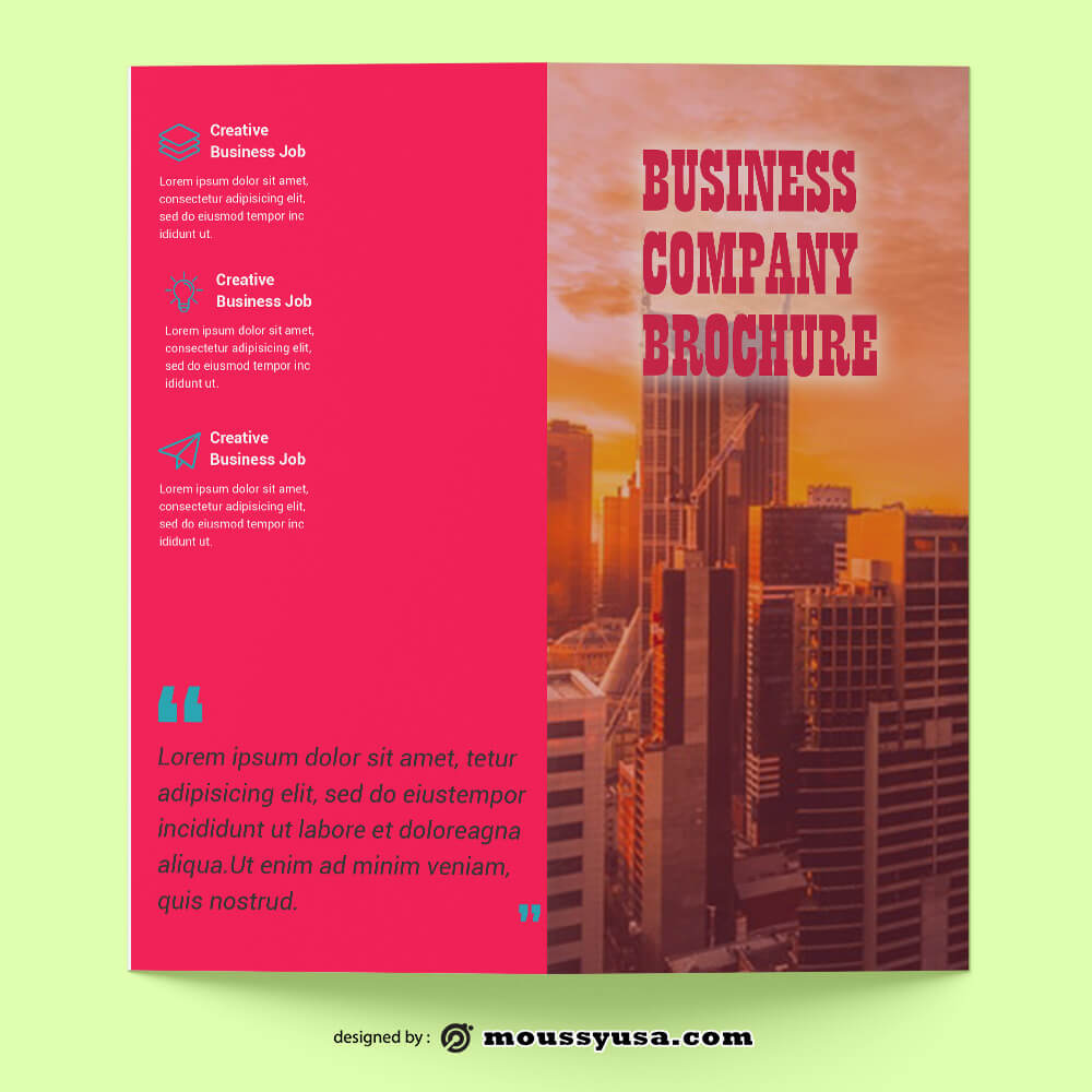 PSD templates For Business Company Brochure