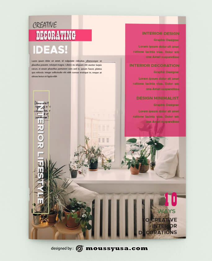 PSD templates For Decorating Magazine