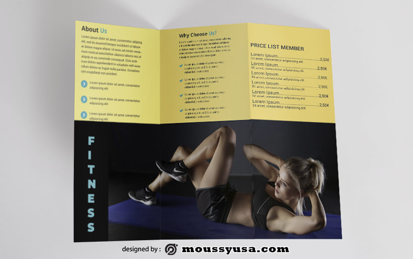 PSD templates For Fitness Brochure