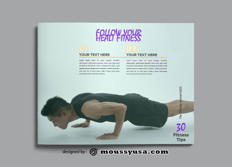 PSD templates For Fitness Magazine