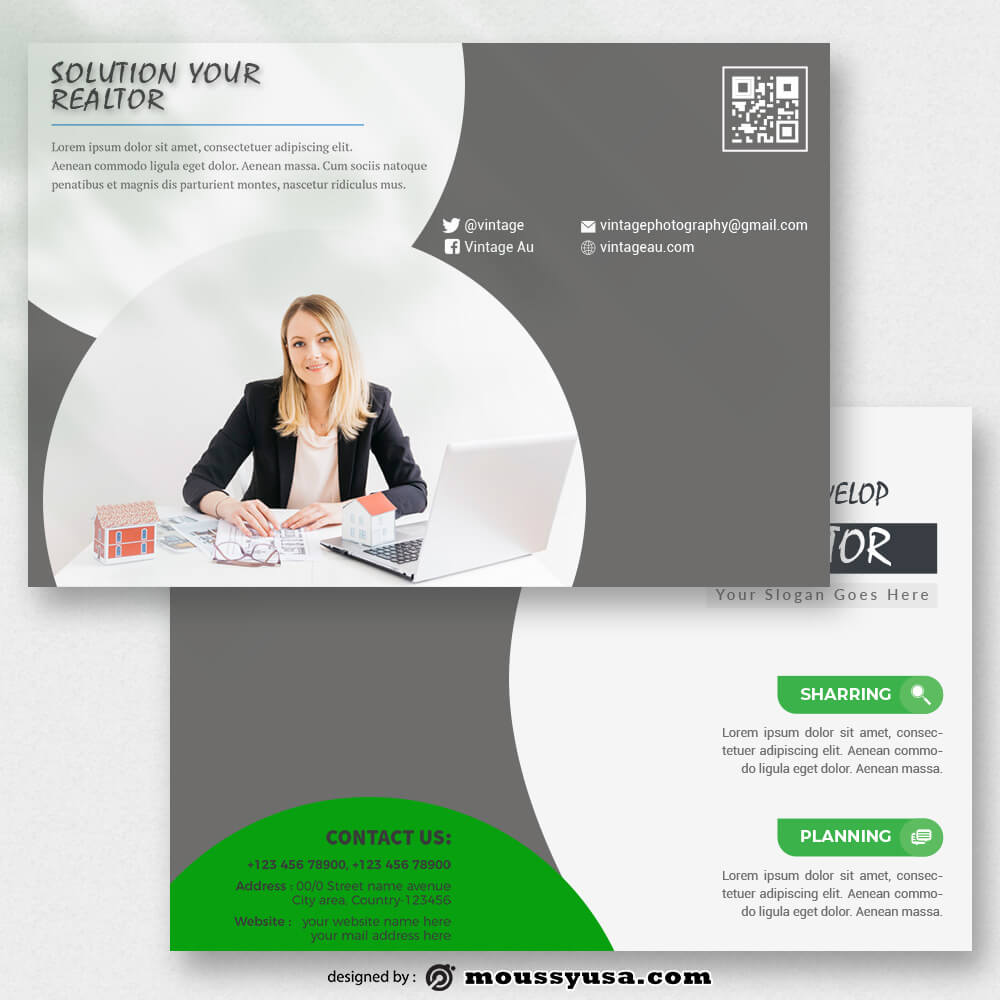 PSD templates For Realtor Postcard