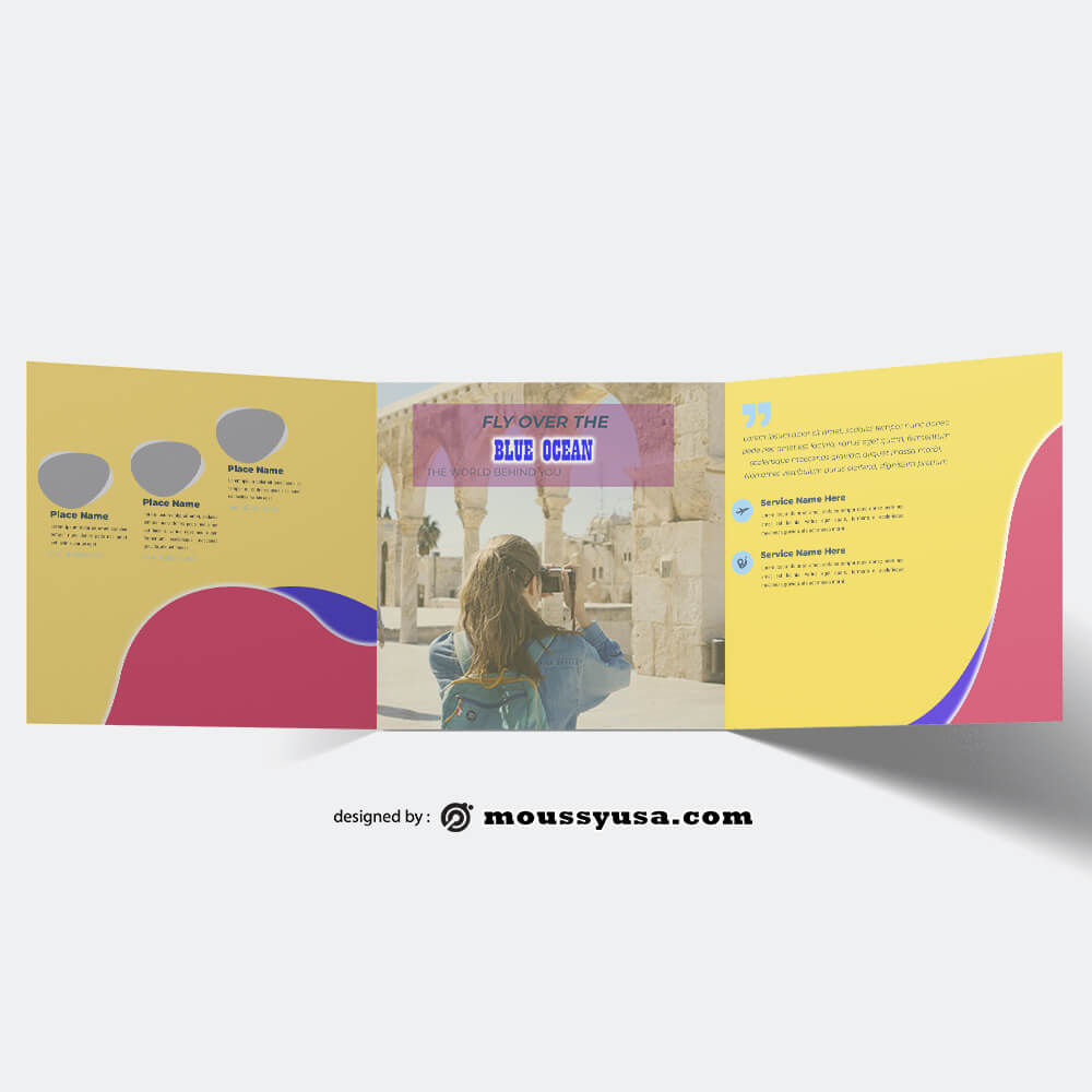 PSD templates For Travel Brochure