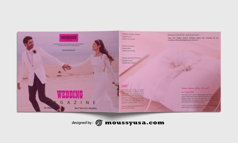 PSD templates For Wedding Event Magazine